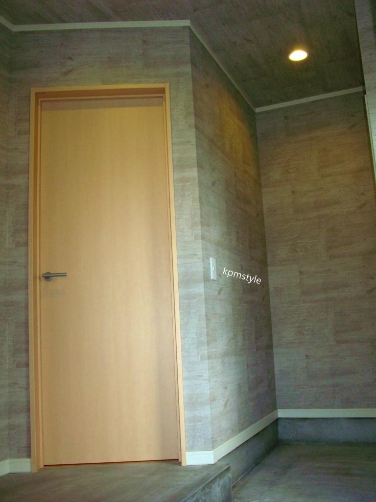 玄関にこだわりのコンクリートテイストのクロークがある家 (八戸市鮫町)4