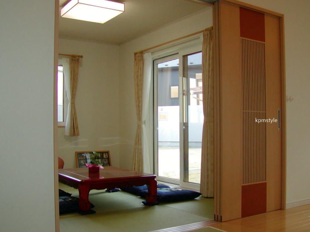 LDKから眺めるコートテラスのある家 (八戸市長苗代)14
