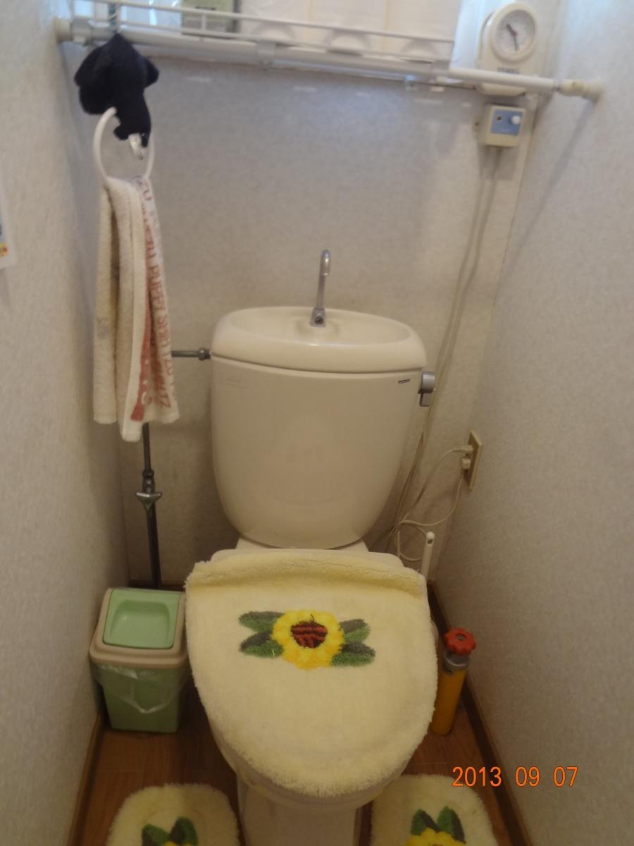 K様邸 トイレリフォーム  洗面化粧台、給湯ボイラー交換1