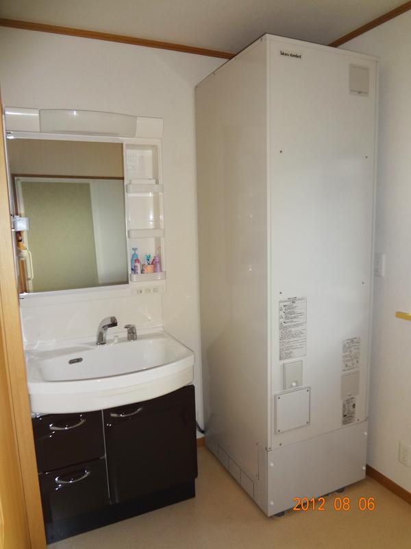 O様邸 洗面所、浴室リフォーム エコキュート2